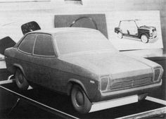 OG | 1971 Morris Marina - ADO28 project | Scaled clay model