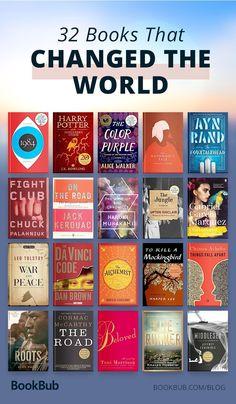32 books that changed the world and are worth adding to your reading list. 32 libros que cambiaron el mundo y que vale la pena agregar a su lista de lectura. Books Everyone Should Read, Best Books To Read, I Love Books, My Books, Books To Read In Your 20s, Teen Books, Great Books, Good Books To Read, Best Non Fiction Books