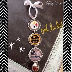 Pittsburgh Steelers Holiday Bottle Cap Ornament on Etsy, $6.50