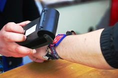 Isle Of Wight RFID Wristband enabling customers to gain fast-track entry to the event and to make contactless payments at the main festival bars