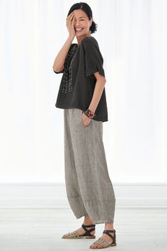 1c32eb83a8 Roma Top by Lisa Bayne . A top that looks great on nearly everyone and  layers beautifully with almost everything. With a high-low hem and extended  shoulders ...