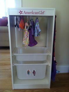 "American Girl Doll ""closet"""