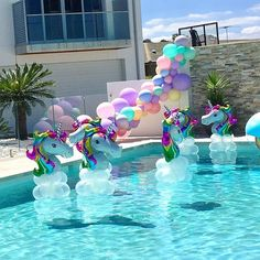 Hot Unicorn Balloon Aluminum Foil - Pegasus Balloons for Kid Birthday Party Inflatable Decoration Photo Props- Party Unicorn, Unicorn Themed Birthday Party, Mermaid Birthday, Birthday Party Themes, Unicorn Balloon, Pool Party Birthday, 5th Birthday, Pool Party Decorations, Balloon Decorations