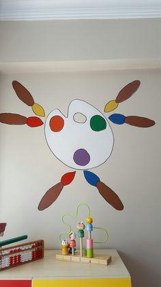 Yine yeni sezon yine boya  #duvarboyama #anaokulu #susleme renk kavramı