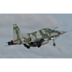 Brazilian Air Force F-5 taking off from Natal Air Force Base Brazil Canvas Art - Giovanni CollaStocktrek Images (36 x 22)