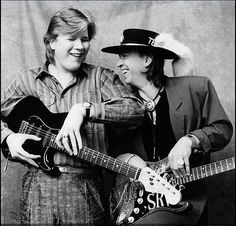 Jeff Healey with Stevie Ray Vaughan