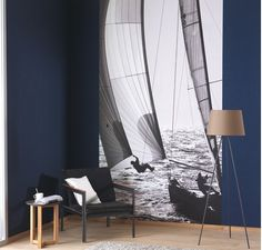 Collection SO WALL MARINE. Evasion, vacances, mer, bateau, panoramique.