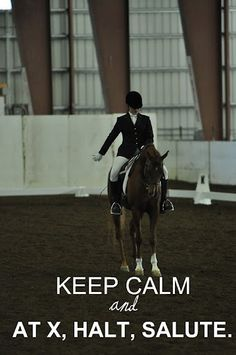Always used to have to remind myself to breath when entering the dressage arena.