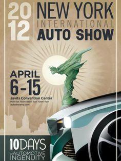 NY auto show poster design.