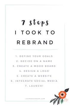 7 Steps I Took To Rebrand — Lauren Schroer | Graphic Designer & Blogger