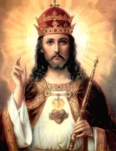 Sunday of Christ the King – Act of Consecration of the Human Race to the Sacred Heart of Jesus Image Du Christ, Image Jesus, Christ The King, King Jesus, Religious Images, Religious Art, Jesus Reyes, Jesus E Maria, Jesus Face
