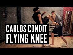 "Carlos Condit's Flying Knee Andrew ""Squid"" Montañez | http://www.mmasurge.com #mma"