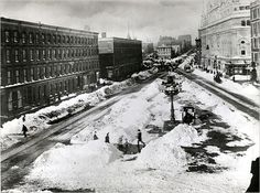 NEW YORK CITY - Times Square after the Blizzard of 1888, before the Times Building was erected.
