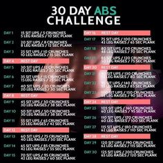 30 Day Abs Challenge - Fitness Training Sixpack Workout Ab Core