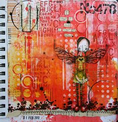 Step by Step tutorial on this journal page by Kate Crane guesting on ARTelier