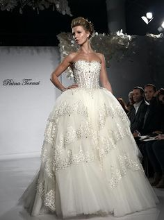 Go to klienfleds to try on a Pnina Wedding Dress - Pnina Tornai, the internationally sought after wedding dress designer! Klienfeld Wedding Dresses, After Wedding Dress, Luxury Wedding Dress, Designer Wedding Dresses, Bridal Gowns, Pnina Tornai Dresses, Wedding Inspiration, Wedding Ideas, Marie