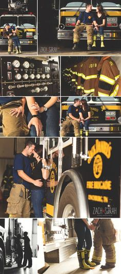 Firefighter lifestyle Engagement shoot (instead of firefighter ....plumber :D)