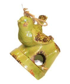 Another great find on #zulily! Bird & Pot Birdhouse Décor #zulilyfinds