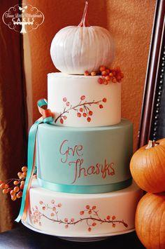 Thanksgiving Cake 2012 - Three Little Blackbirds