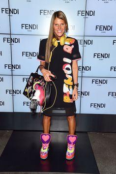 Anna Dello Russo at the Fendi Spring/Summer 2015 Fashion Show
