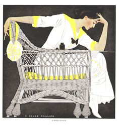 """Coles Phillips - """"Summer Fiction"""" from """"A Gallery of Girls"""" (1911)"""