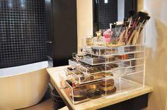 Acrylic Makeup Organizer Case Vanity Tray Brush by BeautyFill