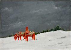 """Dala Horses"" James Kelso Acrylic on Canvas 2015 http://ift.tt/2aPpl9y"