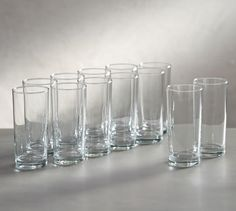 Pottery Barn Caterer's Box Tumblers, Set of 12 Old Fashioned Glass, Dinner Plate Sets, Dinner Plates, Drinking Glass, Glass Texture, Flatware Set, Cutlery, Pottery Barn, Tumbler
