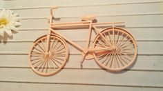 Bicycle Wall Art / Pink Wall Decor / Metal by TheShabbyStore, $25.00