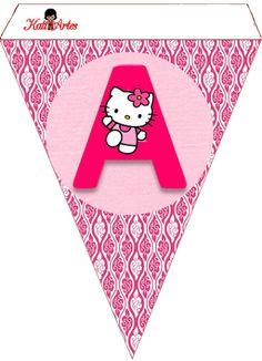 Hello Kitty Free Printable Bunting.