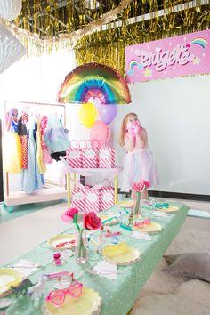 simple rainbow birthday party ideas