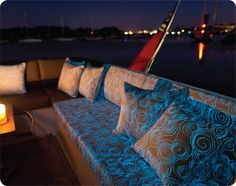Glow in the dark outdoor printed fabric, Solar by EXTEX.