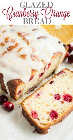 Glazed Cranberry Orange Bread | Recipe | Cranberry Orange Bread ...