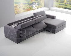 Диван темно-серый G&G Imbottiti ANDREA LAT. 2 POSTI MAX + PENISOLA 160 , каталог мягкой мебели: фото, заказ, доставка - ABITANT , Москва