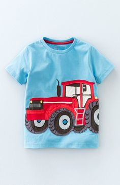 Mini Boden 'Vehicle' Applique T-Shirt (Toddler Boys, Little Boys & Big Boys)