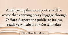 Russell Baker Quotes About Poetry - 54170