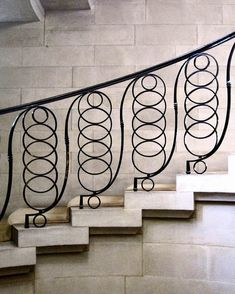 Edwin Lutyens Iron Staircase Railing, Wrought Iron Staircase, Metal Stairs, Staircase Design, Staircase Ideas, Staircases, Architectural Digest, Architectural Elements, Edwin Lutyens