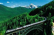 Train: across Canada.