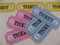 Gingham Cherry: Play tickets free printable