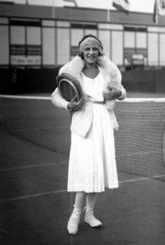 Suzanne Lenglen - one of the greatest tennis players of all time.Between 1919 and 1926, she lost only one match.The first major tennis star to turn professional, Lenglen died of pernicious anaemia 4 July 1938 at the age 39.