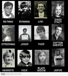 MCU and DC Characters - Actors_Actresses Childhood Photos
