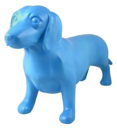 Streamline Blue Dachshund Shelf Decor