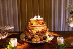 Bolo Naked cake; topo do bolo passarinhos de MDF.