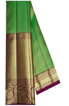 Buy online Green Handloom Kanjeevaram Pure Silk Saree With Big Border Kanchipuram Saree, Banarasi Sarees, Pure Silk Sarees, Historical Costume, Bridal Wedding Dresses, Sarees Online, Cool Outfits, Pure Products