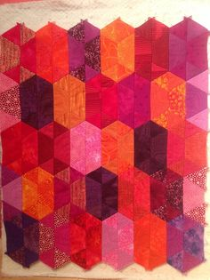 "From Jaybird Quilt's ""Mini Disco"" pattern"