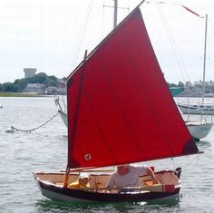 little red sailed sailing dingy