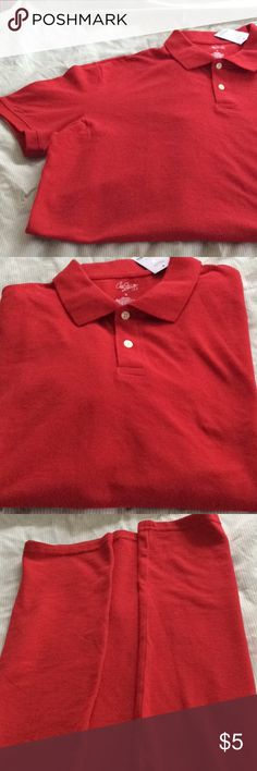 Polo Shirt Red X-Large Men's polo shirt. New with tag. City Streets Shirts Polos