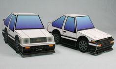Paperized: Super Deformed Toyota Trueno and Levin (AE86) Pape...