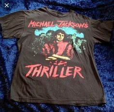 f0365ae1989 Vintage Michael Jackson Thriller T-Shirt Super soft and worn but in  excellent condition. Let me know if you want it washed before sending  incase of ...