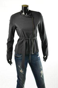 Armani Exchange Womens Jackets A/X Silky Moto Blazer Jacket Sz M NWT Rt $128 #5 Gables eBay Jacket
